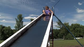 Girl on Slide 654