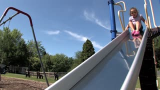 Girl on Slide 658