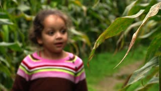 Girl Walks Thru Corn Maze 985