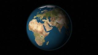 Highlighting Australia. Earth animation.