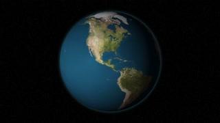 Highlighting China. Earth animation.