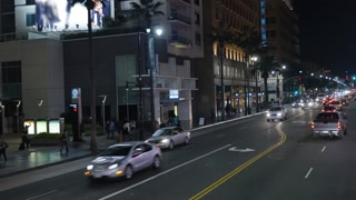 Hollywood Boulevard Night Establishing Shot