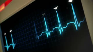 Hospital Monitor Animated Background