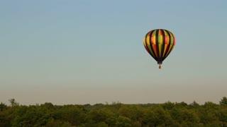 Hot Air Balloon in Dusk Sky