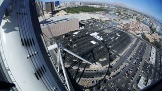 LAS VEGAS, NEVADA, Circa, April, 2014 -  A time lapse view of riding down The High Roller Ferris Wheel near The Strip in Las  Vegas.