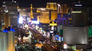 LAS VEGAS, NEVADA, Circa, April, 2014 - A unique view of the Las Vegas Strip at night.