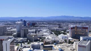 LAS VEGAS, NEVADA, Circa, April, 2014 -  The view of the Las Vegas Strip from high  above on The High Roller Ferris Wheel.