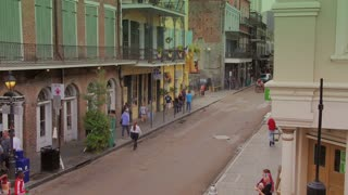 Looking Down at a Street in the French Quarter 4078