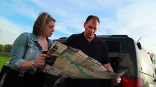 Lost Couple Argues with Road Map
