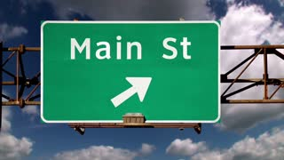 Main Street Sign Background