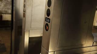 Man Exits Subway Station