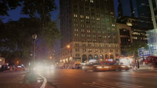 Manhattan Night Traffic Timelapse