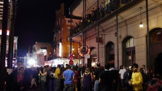 Mardi Gras Bourbon Street at Night 4047