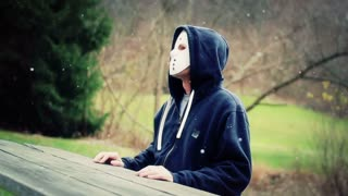 Masked Killer at Picnic Table