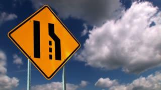 Merge Ahead Sign Background