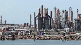 Mississippi River Factory Day Establishing Shot