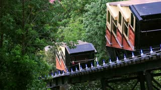 Monongahela Incline Cars Pass Each Other