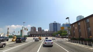NEW JERSEY - Circa August, 2016 - Morning rush hour traffic heads into the Holland Tunnel on the way into Manhattan.