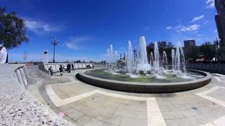 New Orleans Fountain Establishing Shot
