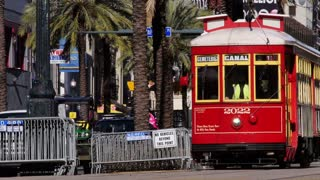 New Orleans Street Car on Canal Street 4053