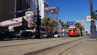 New Orleans Streetcar on Canal Street 4054