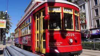 New Orleans Streetcar on Canal Street 4057
