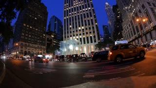 New York City Apple Store Establishing Shot Night