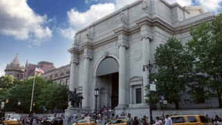NEW YORK CITY - Circa July, 2014 - An establishing shot of the Museum of Natural History in Manhattan.