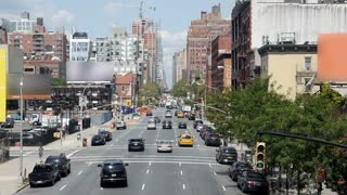 New York City Street Scene as Seen from the Highline