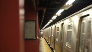 New York Subway Departs