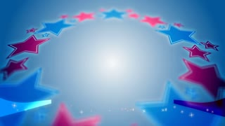 Patriotic Animated Background with Red White and Blue Stars