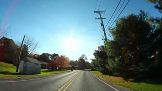 Pennsylvania Backroads Driving Power Lines POV