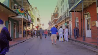 People Walking on Bourbon Street During Mardi Gras 4087