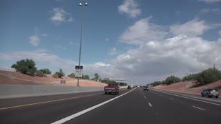 PHOENIX, AZ - Circa October, 2015 - Driving on the highways around Phoenix, Arizona. Shot at 60fps for optional slow motion.