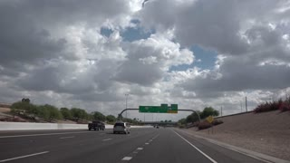PHOENIX, AZ - Circa October, 2015 - Driving on the highways around Phoenix, Arizona. Shot at 60fps for optional slow motion.
