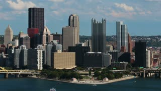 Pittsburgh City Timelapse Day Skyline