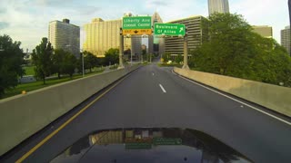 Pittsburgh Driving POV into City