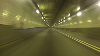 Pittsburgh Driving POV Fort Pitt Tunnel Inside