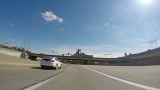 PITTSBURGH, PA - Circa October, 2014 - A super-fast POV video of driving in and around the city of Pittsburgh, Pennsylvania.