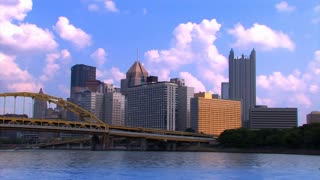 Pittsburgh Skyline Summer Sky