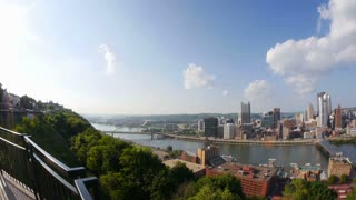 Pittsburgh Skyline Pan Fish Eye Lens