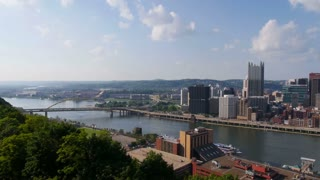 Pittsburgh Skyline Pan Establishing Shot