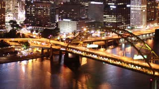 Pittsburgh Skyline Time Lapse Night 2517