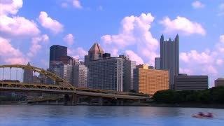 Pittsburgh Skyline Summer Sky Timelapse