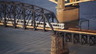 Pittsburgh Subway Establishing Shot Over River