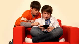 Young Boys Playing Video Games 1547