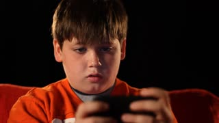 Young Boy Playing Video Games 1553