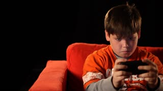 Young Boy Playing Video Games 1554