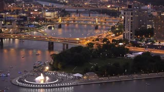 Point State Park in Pittsburgh at Dusk