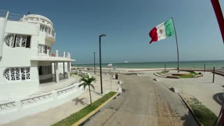 Progreso, Mexico Day Summer Establishing Shot